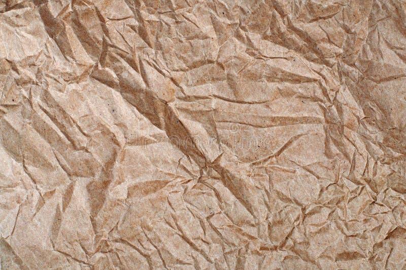 бумага скомканная коричневым цветом стоковые фотографии rf