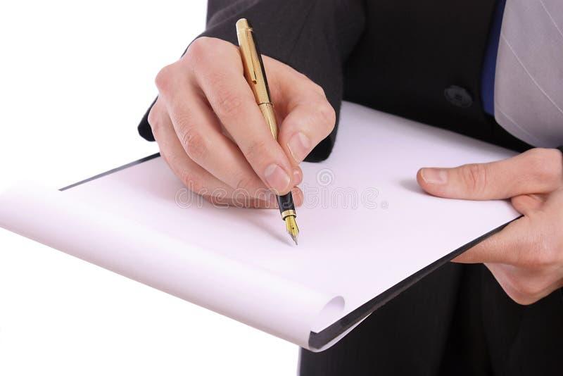 бумага скоросшивателя бизнесмена стоковая фотография