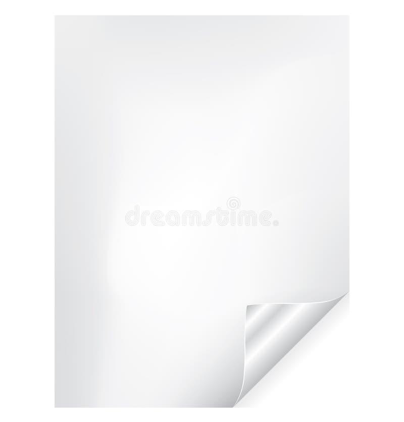 бумага скручиваемости иллюстрация вектора