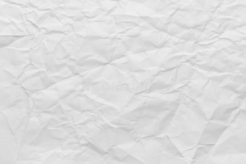 Бумага сморщенная белизной стоковые фотографии rf