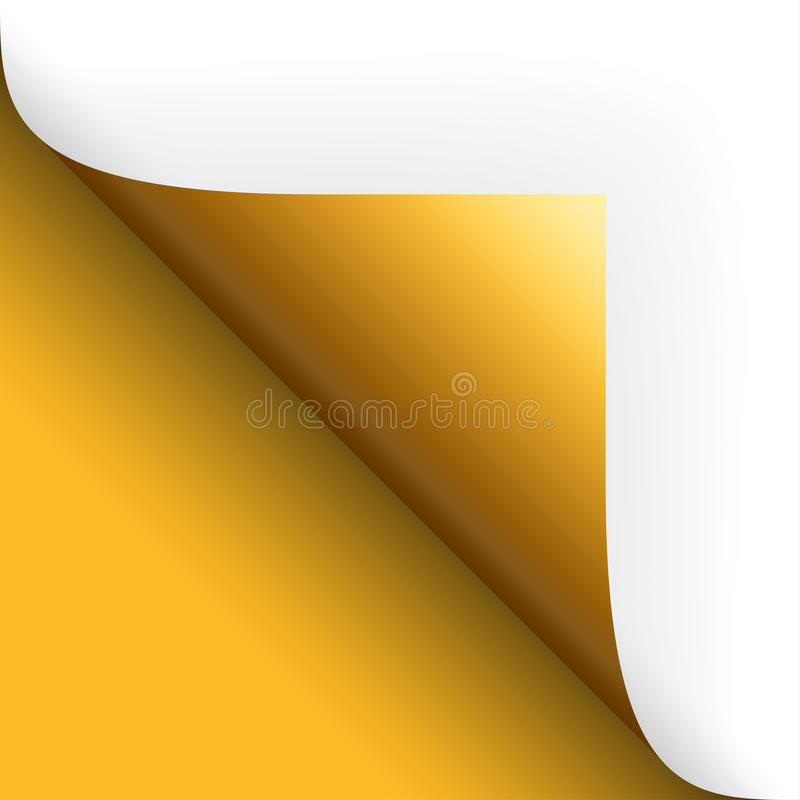 Бумага/страница кантуя нижний левый желтый цвет бесплатная иллюстрация