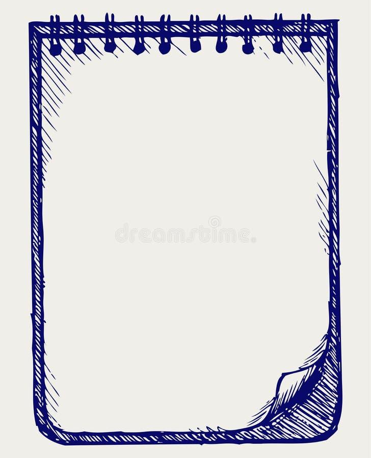 Бумага с тетрадью иллюстрация вектора