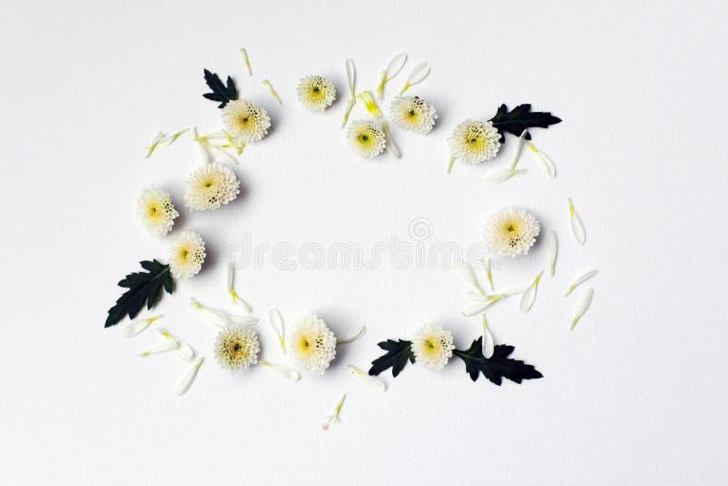 Бумага с цветком на белом фоне текстуры стоковое фото