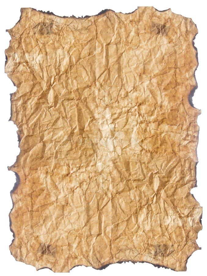 Бумага текстуры старая с, который сгорели краями стоковое изображение