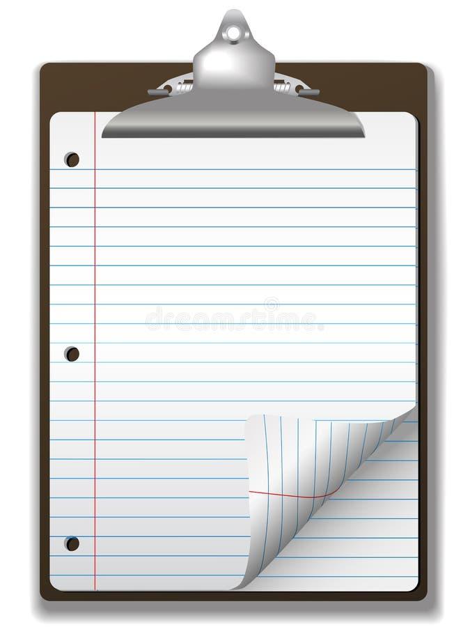 бумага тетради clipboard управляла школой иллюстрация вектора