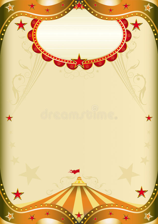 бумага цирка старая иллюстрация вектора