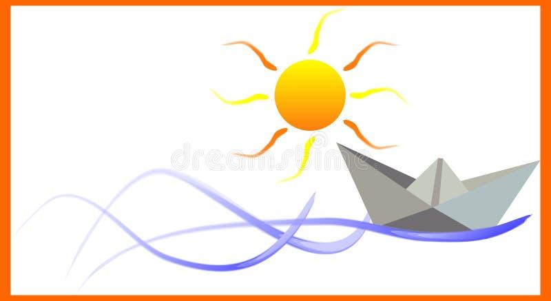 бумага шлюпки иллюстрация штока