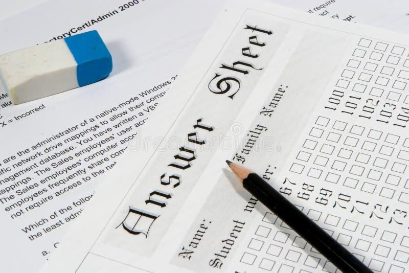 бумага 3 экзаменов стоковые изображения rf