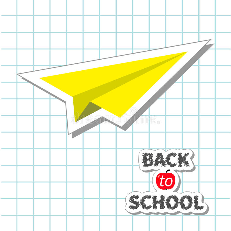 Бумага doodle самолета бумаги желтого цвета Origami Handdrawn бесплатная иллюстрация