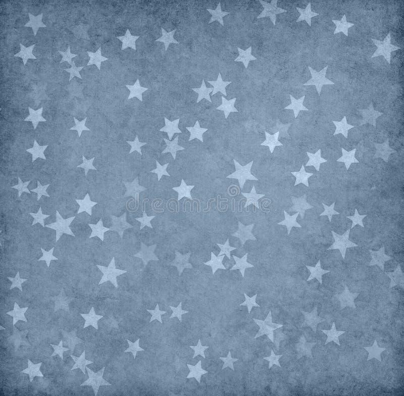 Бумага Grunge украшенная с звездами стоковое фото rf