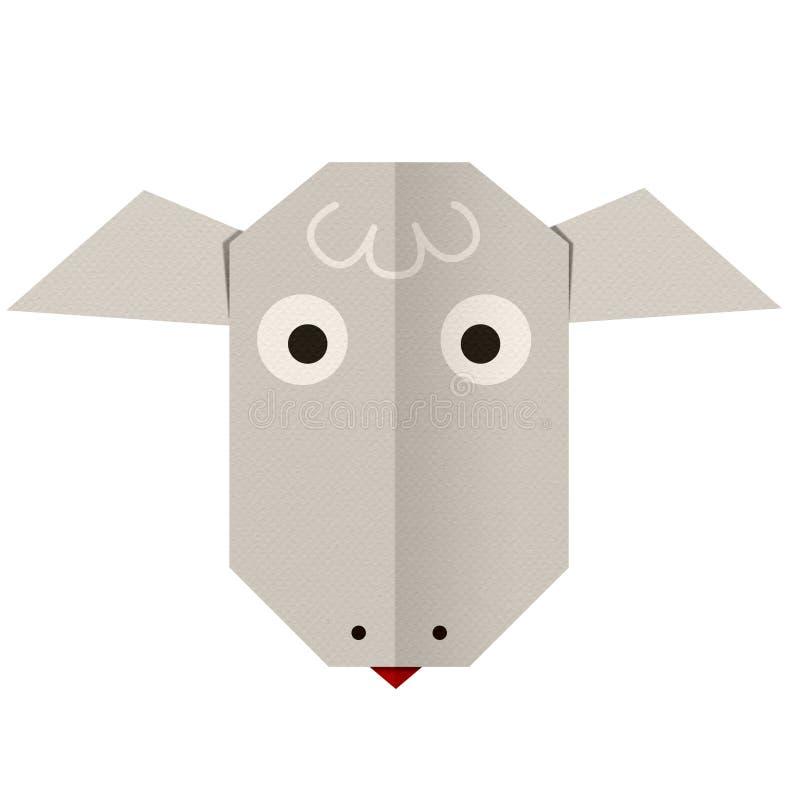 Бумага Origami овца (сторона) стоковое изображение rf