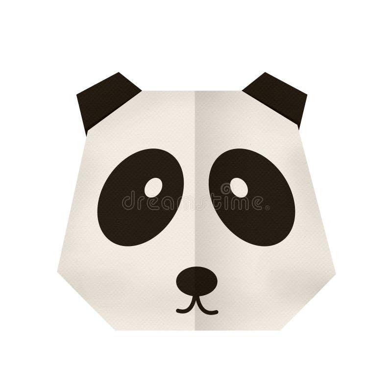 Бумага Origami панда (сторона) стоковые изображения rf