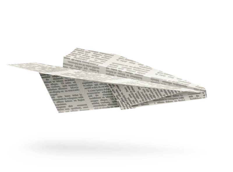 бумага origami самолета иллюстрация штока