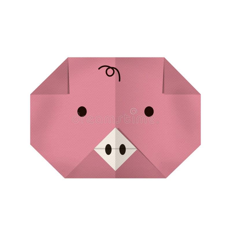 Бумага Origami свинья (сторона) стоковая фотография rf