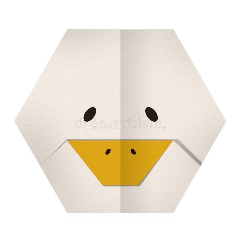 Бумага Origami утка (сторона) стоковые изображения rf