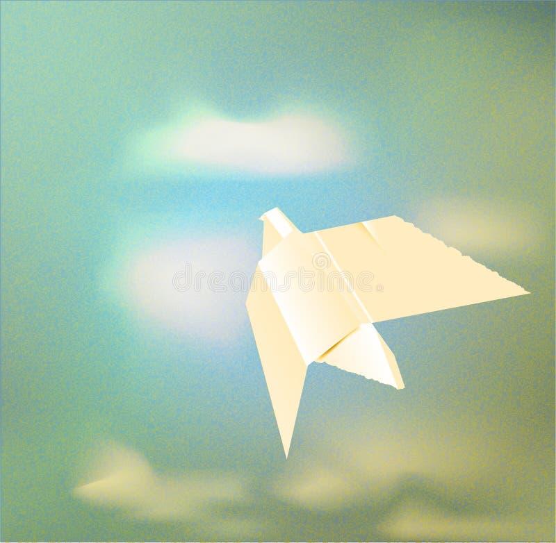 бумага origami dove бесплатная иллюстрация