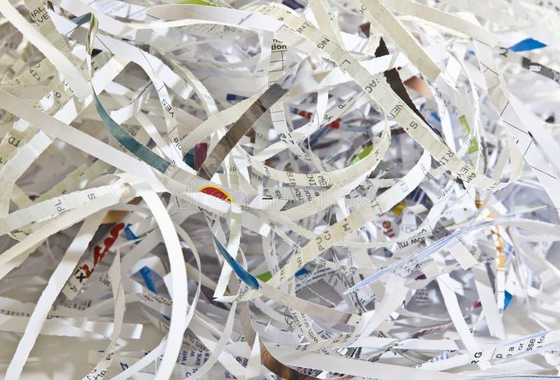 бумага shredded стоковое фото rf