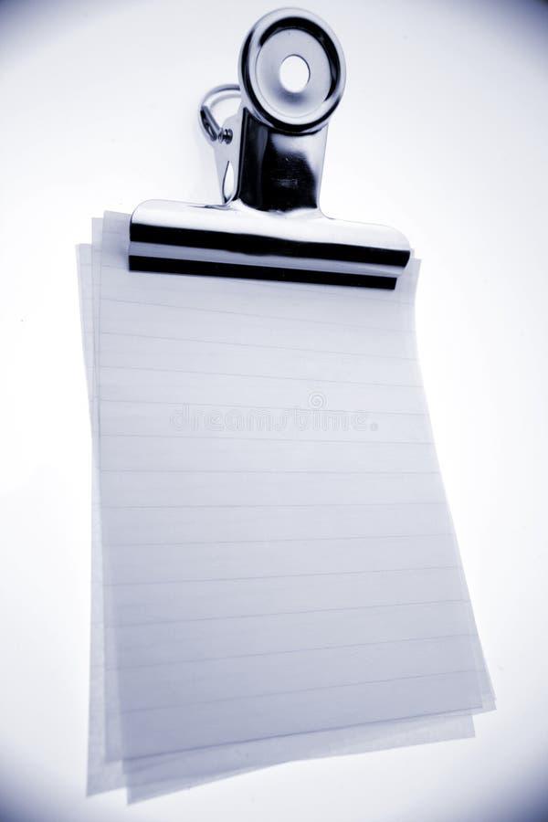 бумаги зажима бульдога стоковые фотографии rf