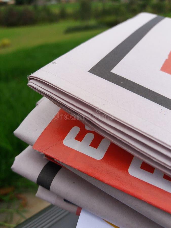 Бумаги новостей стоковая фотография rf