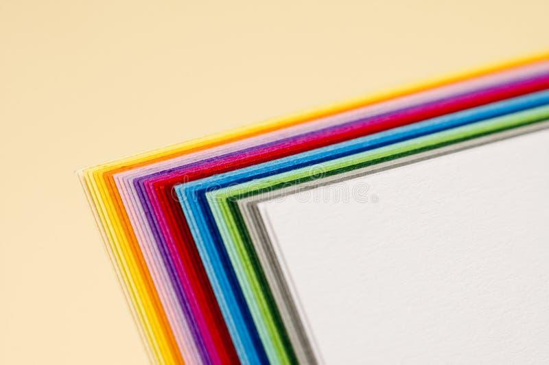 бумаги colourfull стоковое фото
