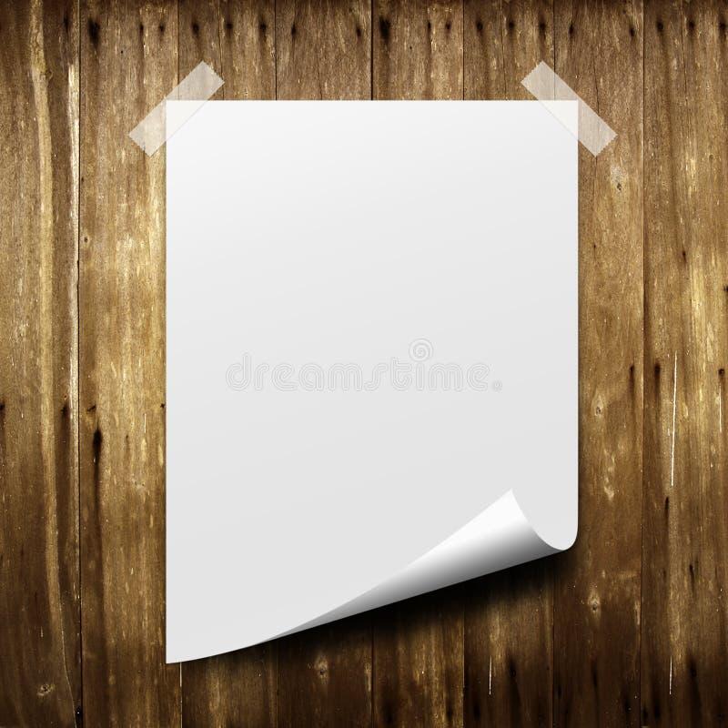 бумажная белизна плаката стоковые изображения rf