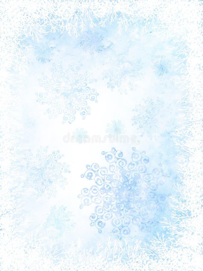 бумажная зима иллюстрация штока