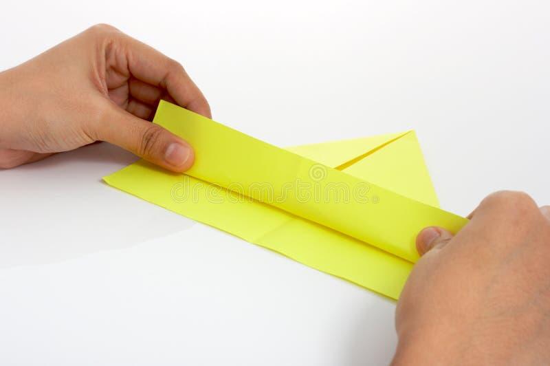 бумажная игрушка корабля стоковая фотография rf