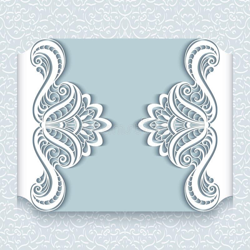 Бумажная карточка шнурка иллюстрация штока