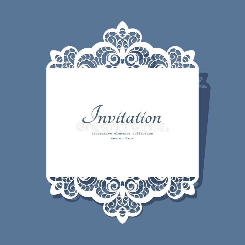Бумажная карточка шнурка иллюстрация вектора