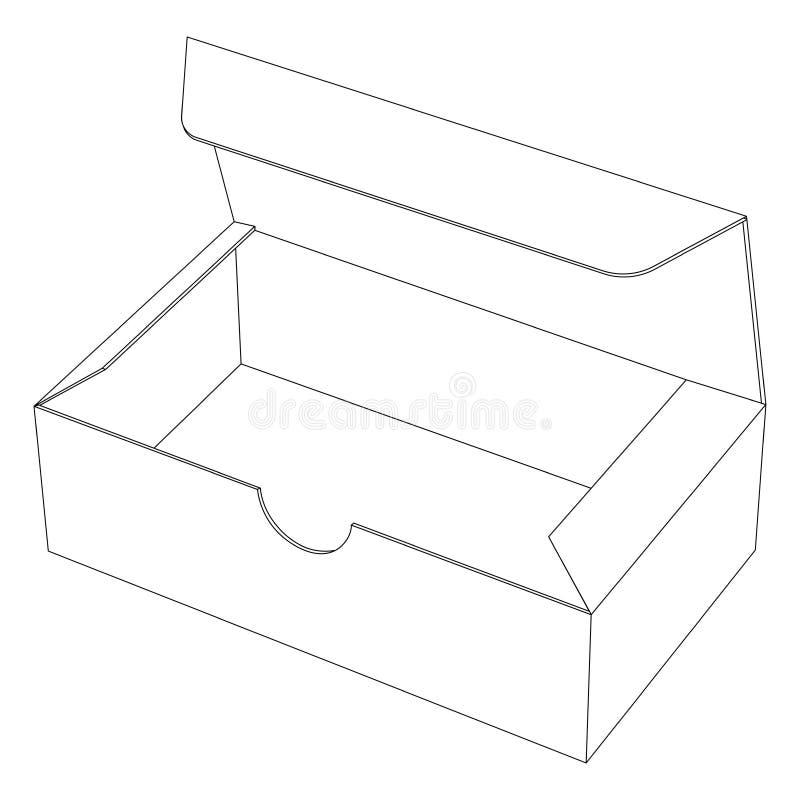 Бумажная коробка Значок плана бесплатная иллюстрация