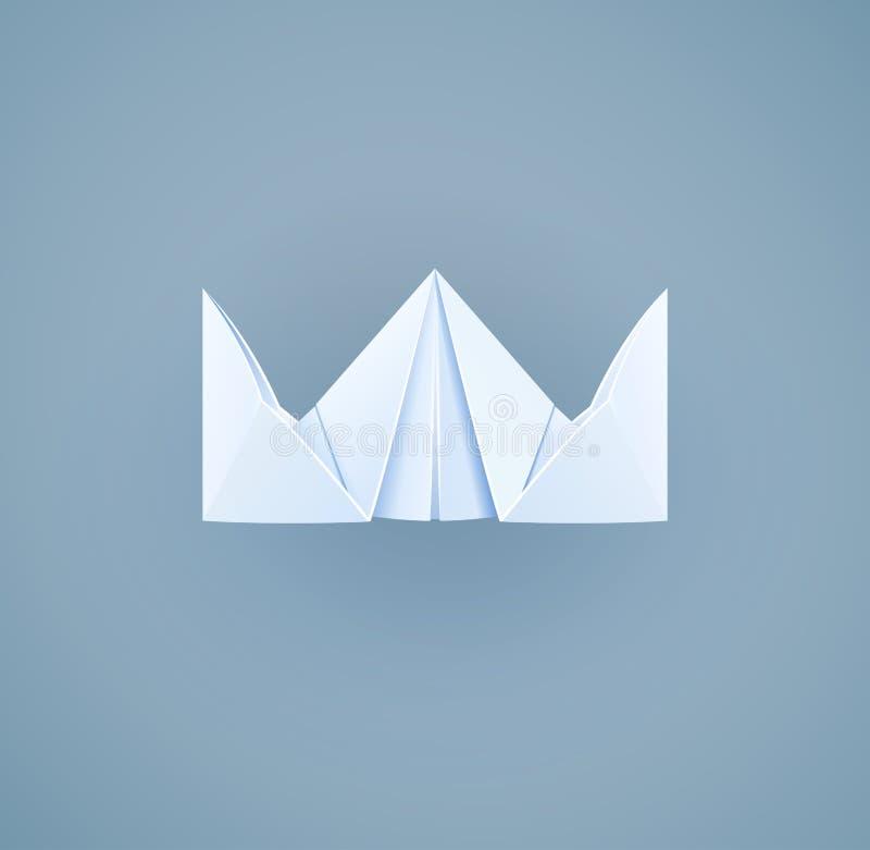 Бумажная королевская крона Игрушка ремесленничества иллюстрация штока
