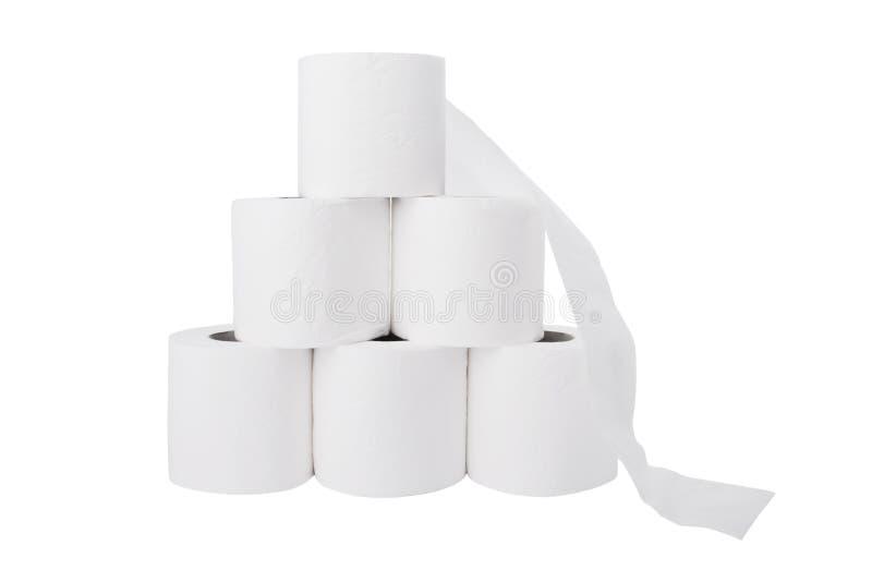 Download бумажная куча свертывает туалет Стоковое Изображение - изображение насчитывающей backhoe, вне: 6853581