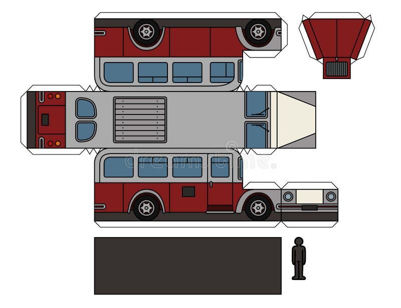 Бумажная модель винтажной шины бесплатная иллюстрация