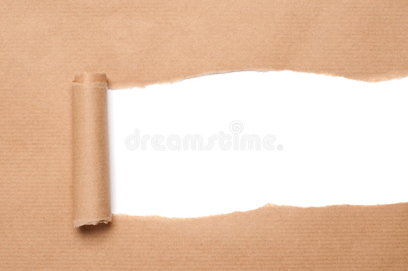 бумажная парцелла стоковое изображение rf