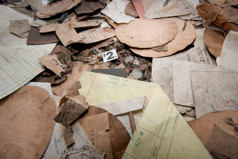 Бумажная погань стоковое фото rf