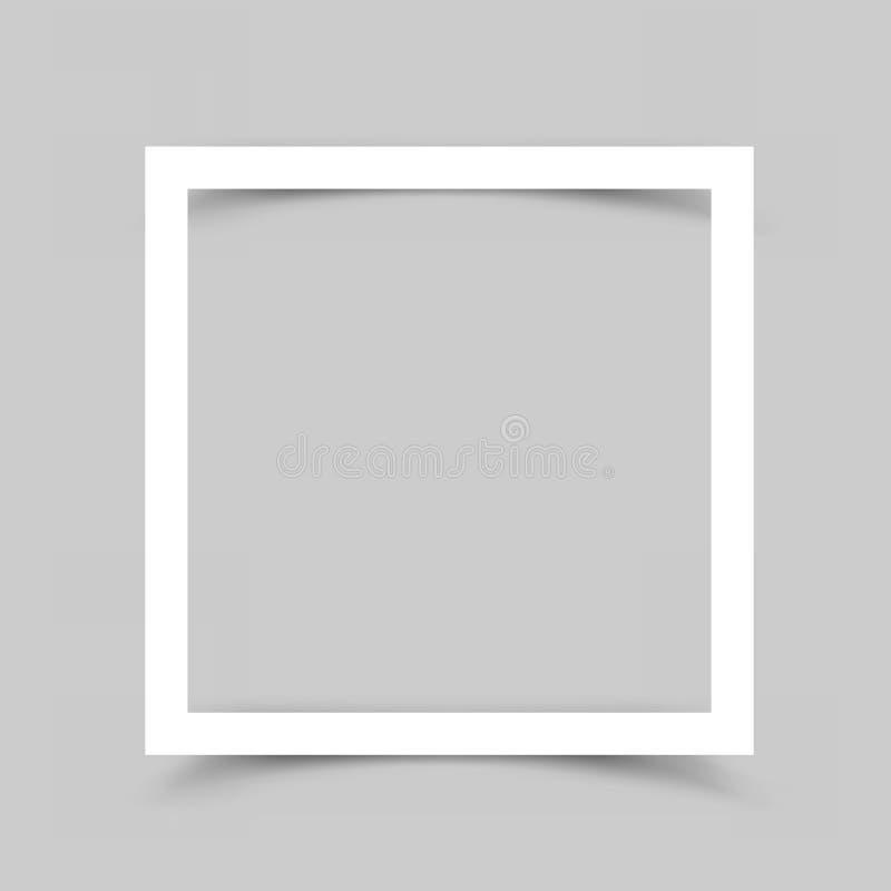 Бумажная предпосылка тени рамки иллюстрация штока