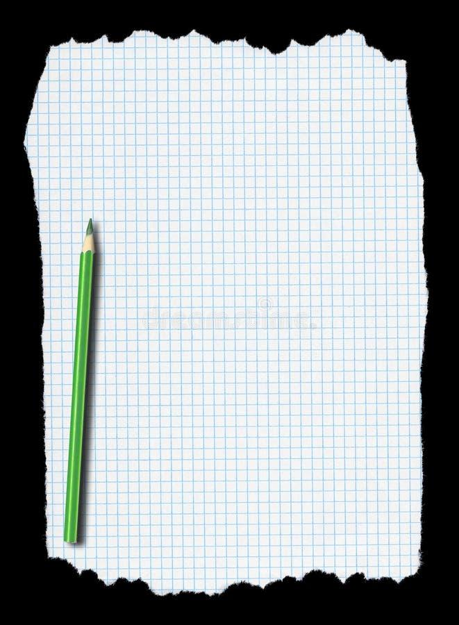 бумажная приданная квадратную форму часть карандаша сорванной бесплатная иллюстрация