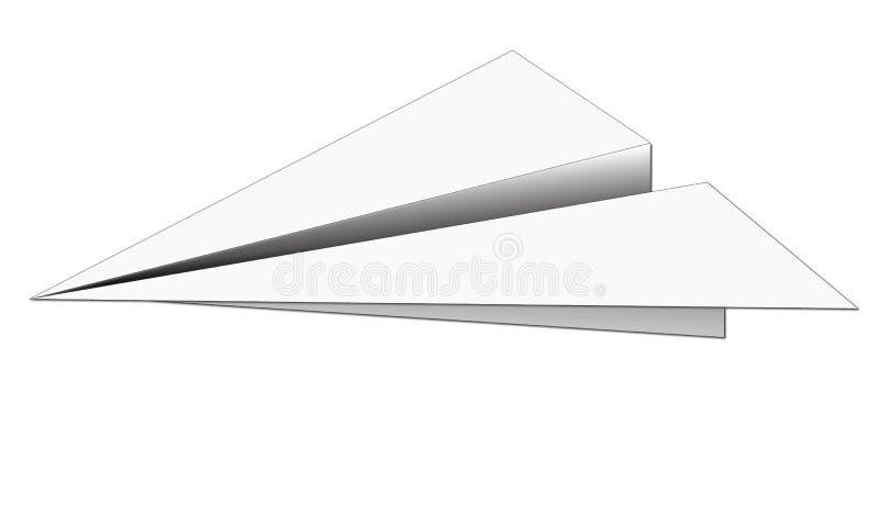 бумажная плоскость стоковое фото