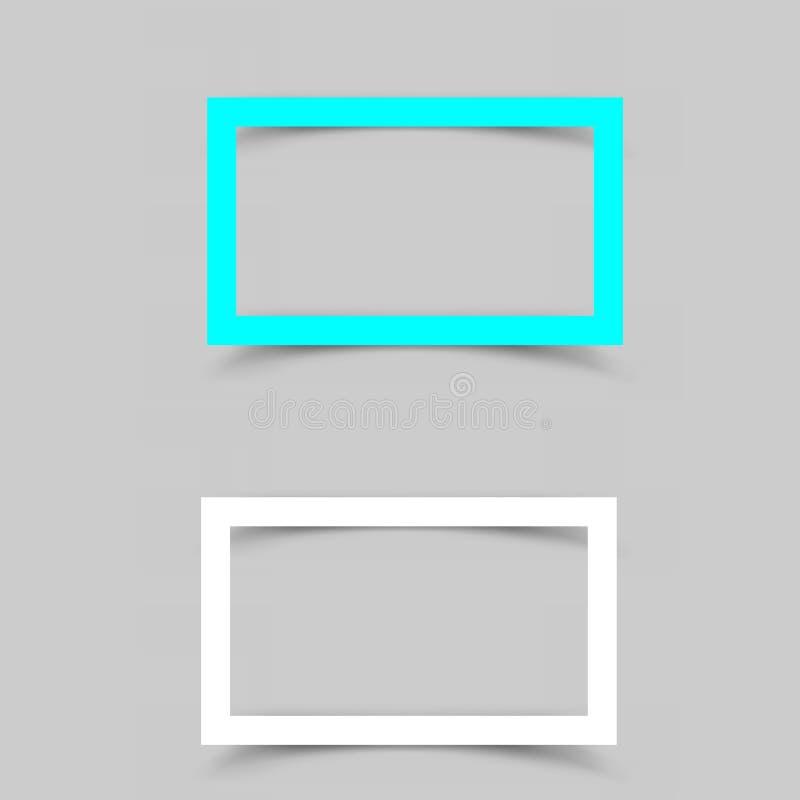 Бумажная тень рамки иллюстрация вектора