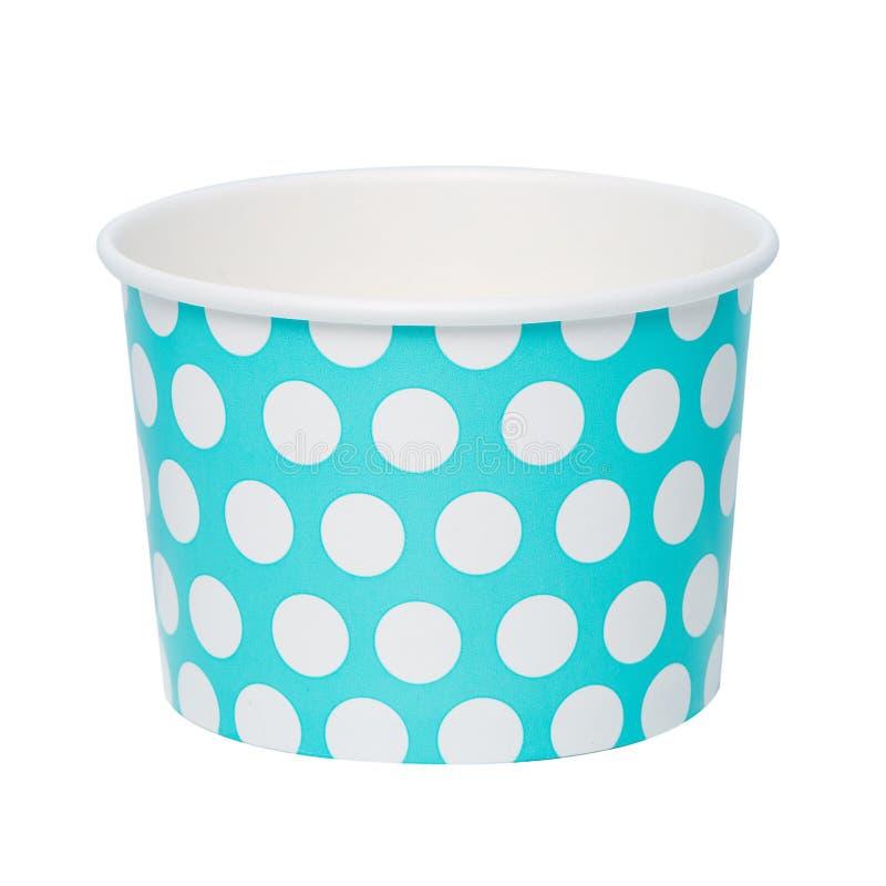 Бумажная чашка мороженого стоковое фото