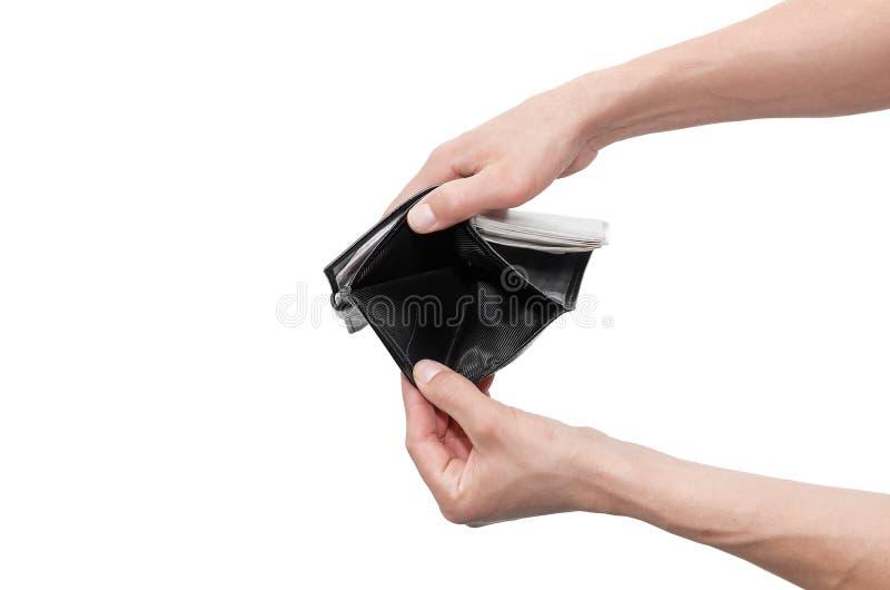 Бумажник в руках стоковые изображения rf