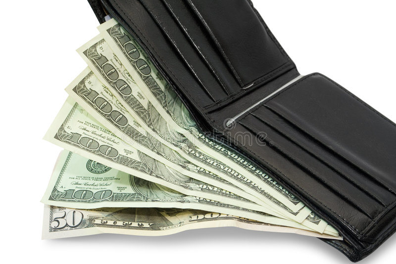бумажник дег стоковое фото rf