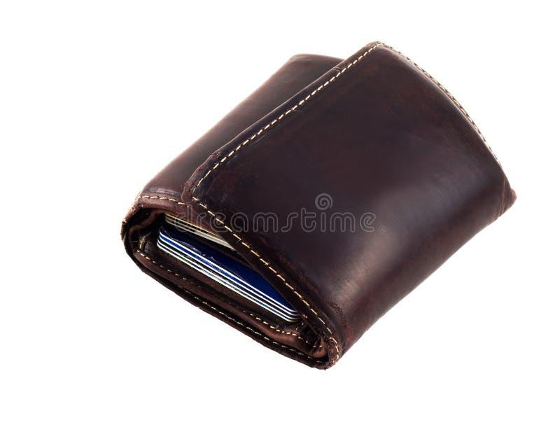 бумажник кредита карточек стоковое фото rf