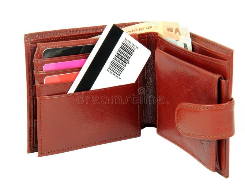 бумажник кредита карточки стоковое изображение