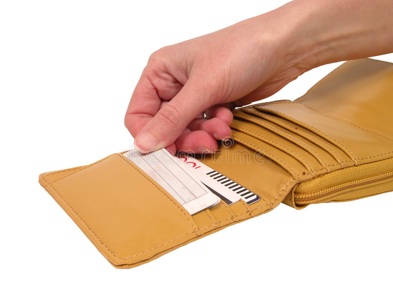 бумажник путя клиппирования карточки стоковая фотография