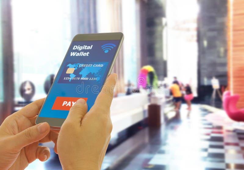 Бумажник цифров стоковое фото