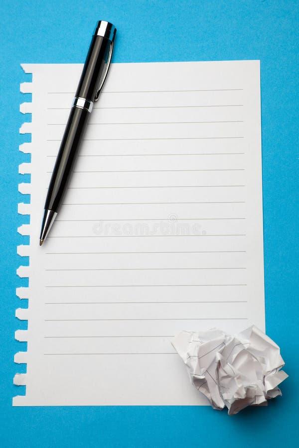 бумажное готовое белое сочинительство стоковая фотография rf