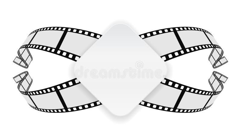 Бумажное знамя на предпосылке вьюрка фильма бесплатная иллюстрация