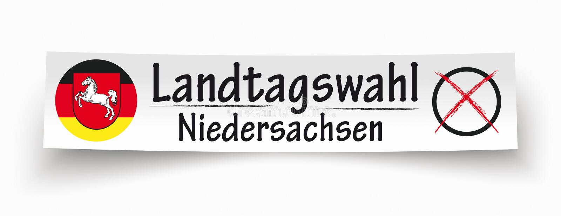 Бумажное знамя Landtagswahl Niedersachsen бесплатная иллюстрация