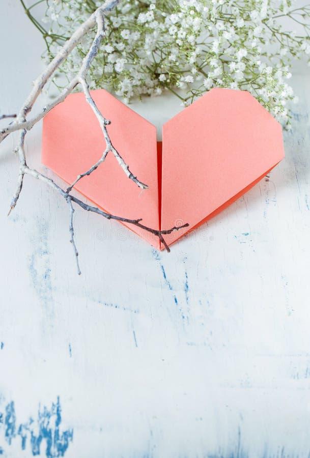 Бумажное сердце стоковая фотография rf